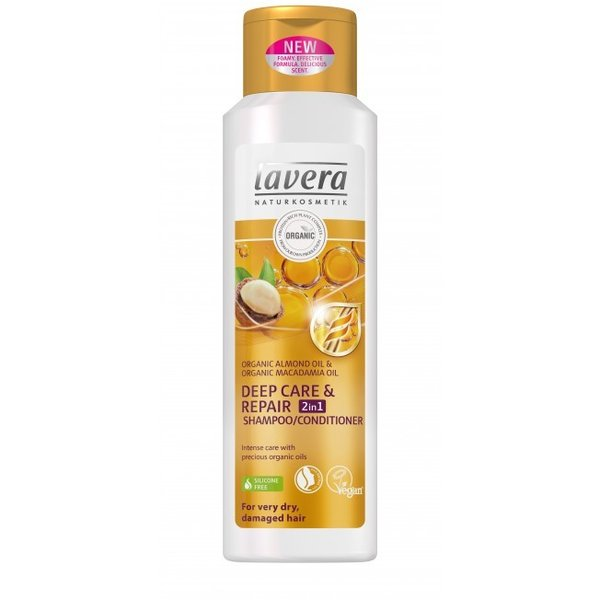 Shampoo/hoitoaine Deep Care & Repair 2 in 1 Lavera